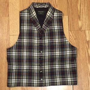 J. McLaughlin Vintage Plaid Vest